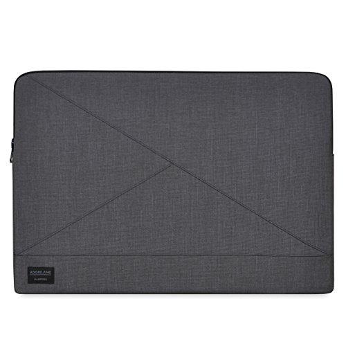 Preisvergleich Produktbild Adore June 15, 4 Zoll Tasche Triangle,  Hülle kompatibel mit Apple MacBook Pro 15 2016-2019 Tasche aus widerstandsfähigem Textil-Stoff,  Dunkelgrau