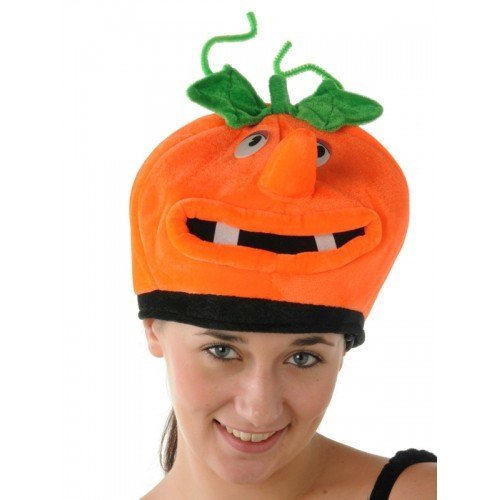 Adult Kostüm Creative - Adult Pumpkin Hat with Face / Halloween Fancy Dress Costumes and Funny Party Hats