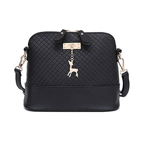 Nuanxin Damen Umhängetasche, Deer Toy Shell Shape Bag, Schwarz, 22 *   10 * 20cm U10