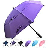 ZOMAKE Automatic Golf Umbrella Windproof, Large Stick Umbrella with 62/68 Inch Oversized Double Canopy Vented, Sun Protection for Men Women