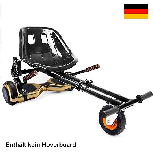 GiroSmart Sitzscooter Kart Sitz für Verstellbar Sitz Erweiterung für 6, 5-10 Zoll Self Balance Scooter Erwachsener, Kind(Schwarz) EINWEG