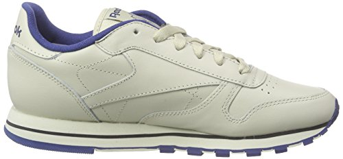 Reebok Classic Leather, Herren Sneakers Beige (Ecru/Navy)