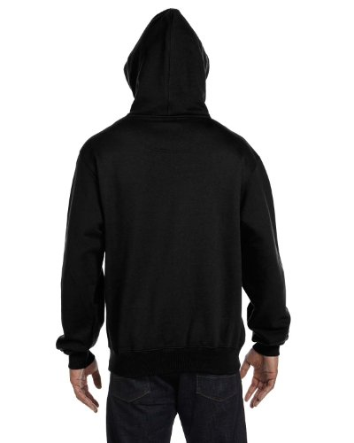 Champion 9.7 OZ, 90/10 Cotton Max Pullover Hood BLACK/GRAN HTR