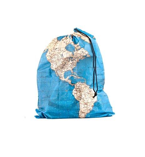 Kikkerland LB10_Bleu Lot de 4 Sac de Voyage, PVC, 2x22x15 cm