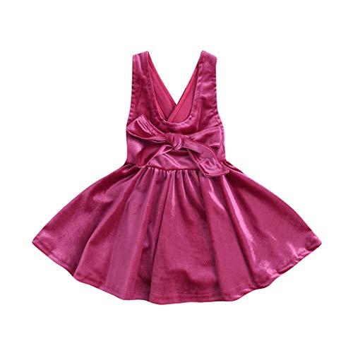 holitie Sommer-Kleinkind-Baby-Mädchen-Sleeveless festes Bogen-Kleid kleidet Overall-Kleider an Tütü Rüschen Kleid Falten Mädchen fest Kommunions Hochzeit Kinder festlich Party Kleid