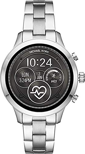 Michael Kors Womens Digital Connected Wrist Watch with Stainless Steel Strap MKT5044