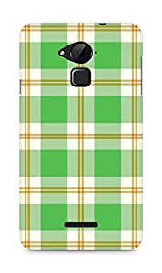 Amez designer printed 3d premium high quality back case cover for Coolpad Note 3 (green checks )