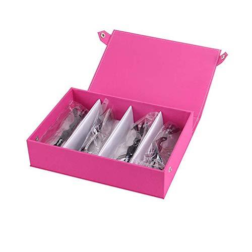 Cvbndfe Elegant 4 Multi-Color Wasserdichte Oxford Tuch Brille Display Aufbewahrungsbox Sonnenbrille Display Box Rahmen (Farbe : A)
