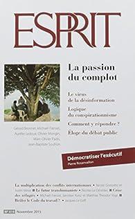 Esprit, N° 419 : La passion du complot par Marc-Olivier Padis