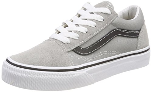 ld Skool Sneaker, Grau (Drizzle/Black Q7l), 36 EU (Black Kids Vans)