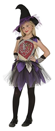 Imagen de my other me  disfraz de bruja esqueleto para niña, 10 12 años viving costumes 203999