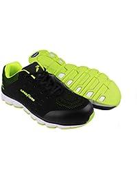 Goodyear Workwear GYSHU1571 - Zapatillas de seguridad para hombre (metal, sin compuesto), 4 UK, negro/verde, 1