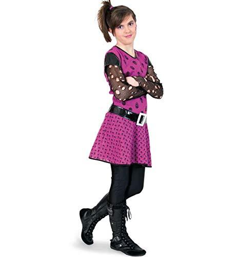 KarnevalsTeufel Kinderkostüm Punky Girl, Punkerin, Punk, Rock, Punkgirl, 2-TLG. Kleid mit Gürtel - Punk Rock Kid Kostüm