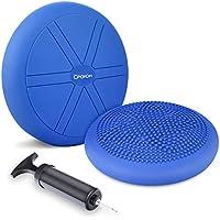 CPOKOH Cojin Equilibrio, Cojines de Equilibrio Usado para Entrenamiento del/Balance Rehabilitación/Ejercicios de Espalda/Gimnasio/Yoga/Cojín. (35cm,Azul)