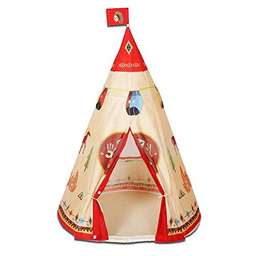 LIVEBOX Faltbares Pop Up Kinder Spielhaus / Schloss / Zelt / Den Ideal für Indoor & Outdoor Use Play Zelt mit Reißverschluss-Aufbewahrungstasche - (Teepee)