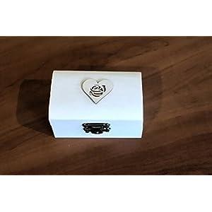 Ring-Träger Box, Hochzeit/Verlobung-Ring-Box, personalisierte Hochzeit Ring-Box, Träger Ringkissen, rustikale Ehering Halter, Kissen Träger Box, Rolle in Sackleinen und weiße Spitze. 8.5x5x4,7