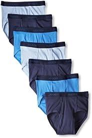 Hanes Ultimate Men's 7-Pack Full-Cut Pre-Shrunk Briefs - Colors May