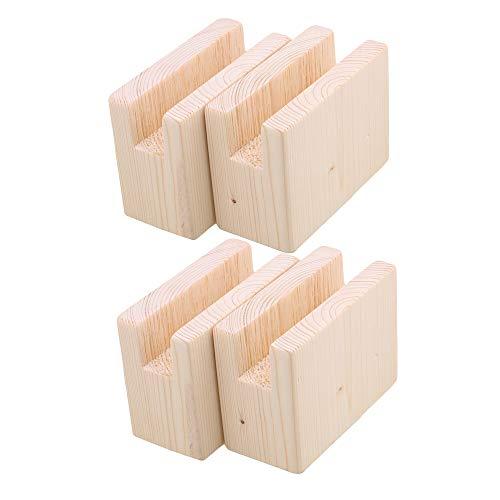 RDEXP 10 x 5 x 8,5 cm Rillenbreite 2 cm Holztisch Schreibtisch Betterhöhung Möbelbeine Hebefüße bis 10 cm Heben 4 Stück