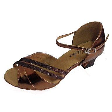 XIAMUO Individuelle Damen Latein Schuhe angepasste Ferse Open Toe Tanz Sandalen mehr Farben Rot