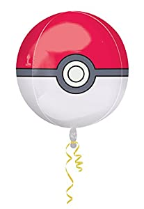Amscan International 2946401 Pokémon Poke Ball Orbz - Globo de Papel de Aluminio, 38,1 cm