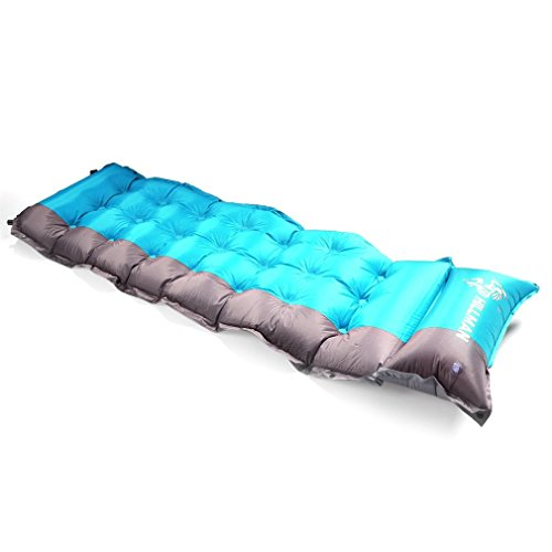 SELF INFLATING Camping Sleeping Pad Mat Mattress Bed OUTAD Extra Thick Lightweight With Pillow For Camping, Backpacking, Tents (Gray)