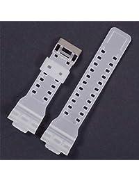 c8ca1d43ccc Rlorie Correa de Silicona de Caucho Impermeable para G – Shock para GD120GA-100  GA-110 GA-100C para Hombres…