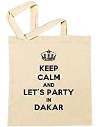 Keep Calm And Let's Party In Dakar Bolsa De Compras Playa De Algodón Reutilizable Shopping Bag Beach Reusable