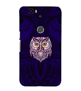 printtech Owl Cool Back Case Cover for Motorola Google Nexus 6P