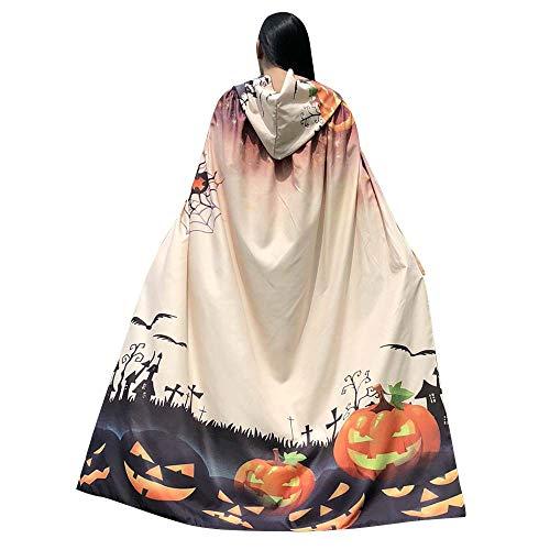 GOKOMO Halloween 140 * 100 Print Kapuzenmantel Beige Ghost