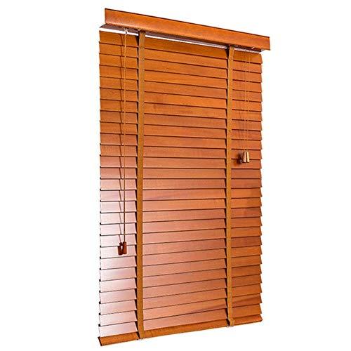 MYYDD Jalousien, Massivholz-Jalousien-Schlafzimmer-Studien-Wohnzimmer-Büro-hölzerne Jalousien, die den Holzruten dimmen den Umweltschutz kundengerecht sind,130x250cm