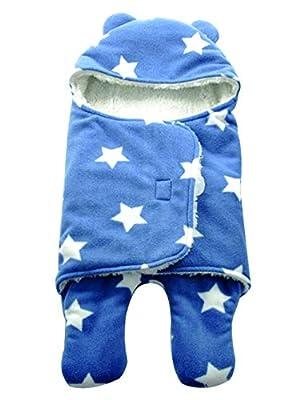 mainaisi Swaddle Wrap Manta para bebés saco de dormir Cartoon suave de doble capa