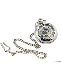 [TU33] con verdadero trabajo reloj de bolsillo y cadena en antiguo Fashion joyas kobert–goods