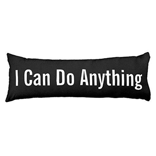 Oliyneco posso fare qualsiasi cosa motivazionale tela in cotone lavabile in lavatrice decorative Body Pillow (Cotone Fuzzy)