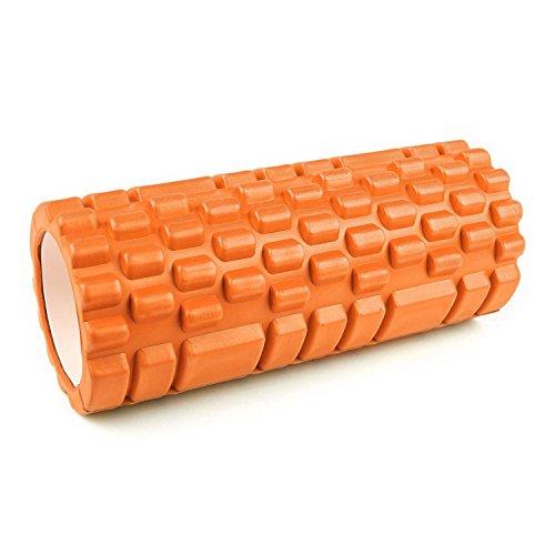 Capital Sports Yoyogi Fitnessrolle Schaumstoffrolle Yoga- Reha- und Massagerolle aus Schaumstoffe (33,5cmx 15cm x 15cm Rolle, Noppen Oberfläche) orange