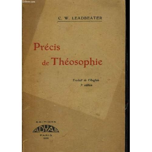 Précis de théosophie troisième édition