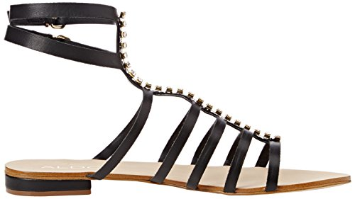Aldo Fishwick Sandali, Donna Nero (Black Leather/97)