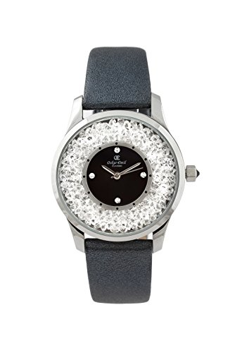 Oskar-Emil Classic Alicia Women's Quartz Watch with Black Dial Analogue Display and Black Leather Strap