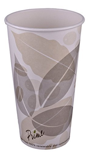 primeware-kompostierbar Einweg Hot Tassen, 50Zählen, 20 Ounce (Cups Only) (20 Unze-kaffee-tasse Deckel)