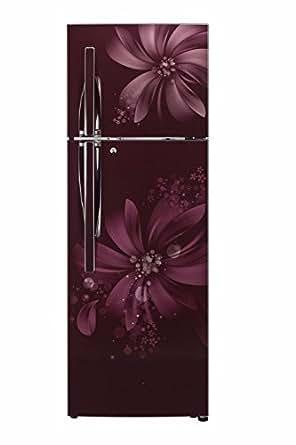 LG 284 L 3 Star Frost Free Double Door Refrigerator(GL-I302RSAY, Scarlet Aster, Inverter Compressor)