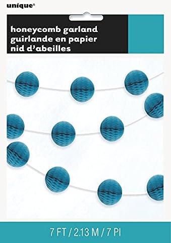 Unique Party - 63383 - Guirlande de Boules Alvéolées - 2,1 m - Turquoise