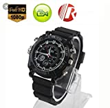 AHAXA Full HD 1080P Motion Detection Night Vision and Waterproof Wrist Watch Camera