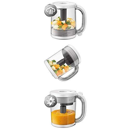 Philips Avent 4-in-1-Babynahrungszubereiter SCF883/01, Dampfgaren und Mixen, 4 Mahlzeiten, weiß - 2