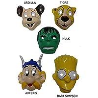 DISBACANAL Caretas de plástico variadas - Asterix