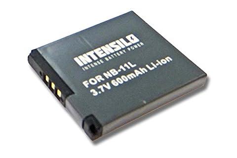 Batterie Li-Ion INTENSILO 600mAh (3.7V) pour appareil photo CANON Ixus