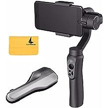 """Zhiyun Smooth-Q 3 Axis Handheld Gimbal para Smartphone Hasta 6 """"No más Contrapeso, Cambie Libremente Estándar / Disparo Vertical, 12 horas Ejecución-Tiempo, Botones para Photo / Record / Zoom In / Out – Negro+Letwing Paño (Zhiyun Smooth-Q)"""