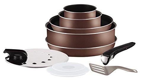 Tefal L2089702 Ingenio 5 Essential - Juego de sartenes y cacerolas para Todas Las Fuentes de Calor Excepto inducción, 10 Piezas
