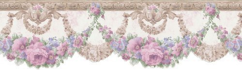 Cut Swag (Brewster 418B068 Cameo Rose IV Rose Swag Die-Cut Wall Border, 6.25-Inch by 180-Inch by Brewster)