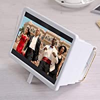 LIUXIN Mobile Phone Screen Amplifier Mobile Phone Magnifying Glass Telescopic Video Amplifier, Multi-color Optional (Color : White)
