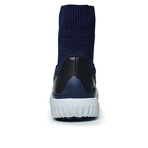 Gaorui 2017 neue Mode Herren Jungen Sportschuhe mit Socks leichte Outdoorschuhe Walkingschuhe 3 Farbe Blau