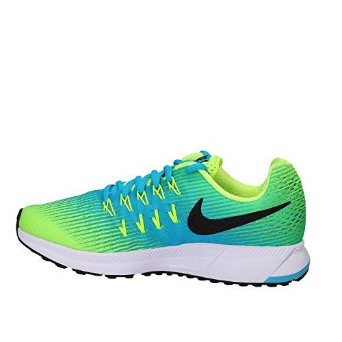 Nike Zoom Pegasus 33 (Gs), Scarpe da Ginnastica Unisex-Bambini Blau